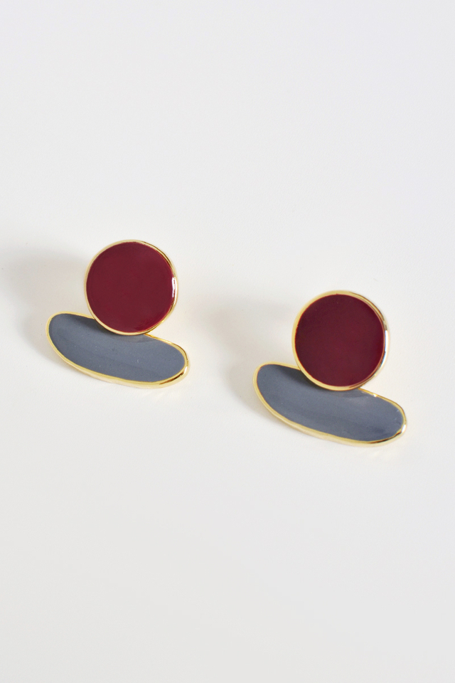 SPACESHIP COLOURBLOCK EARRINGS