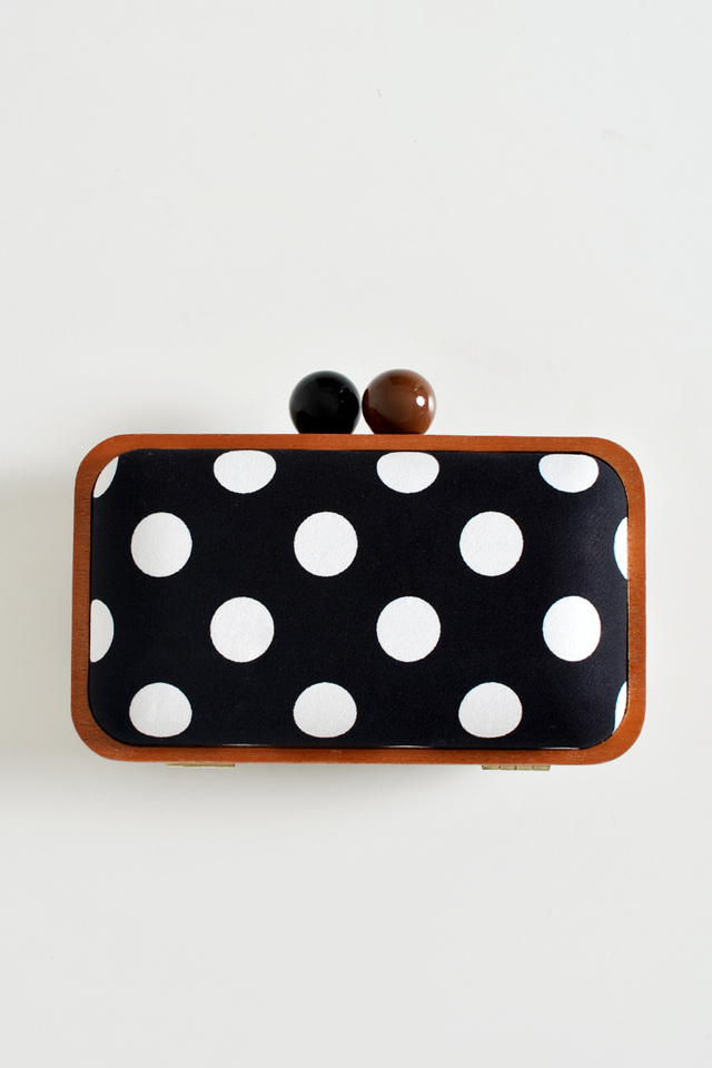 WOODEN CROSS BODY CLUTCH