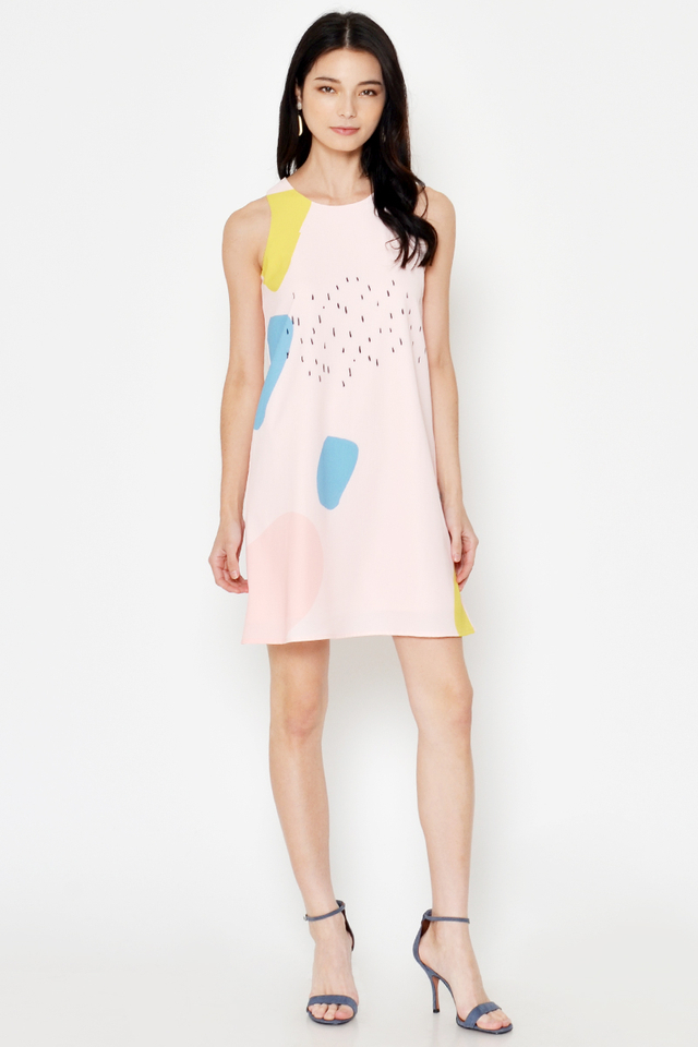 ANNELI ABSTRACT DRESS