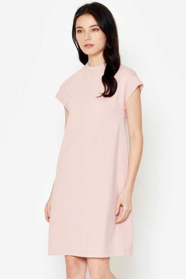COLEEN BASIC HIGHNECK DRESS