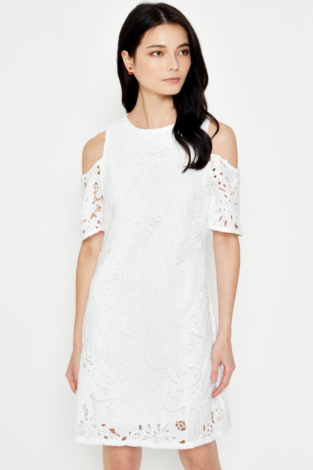 KATYA CROCHET COLD SHOULDER DRESS
