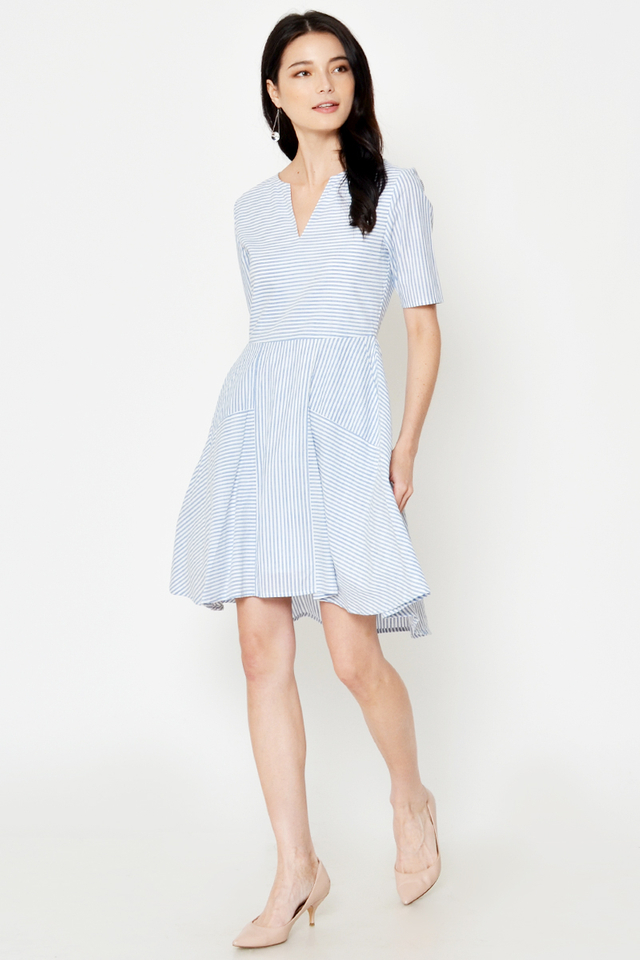 LANELLE STRIPE FLARE DRESS