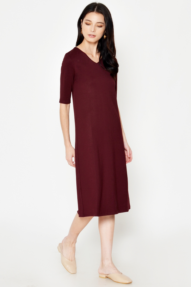 LINDEY VNECK MIDI DRESS