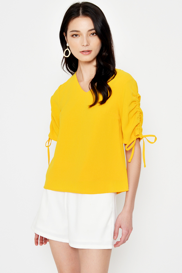 RORI RUCHED SLEEVES TOP
