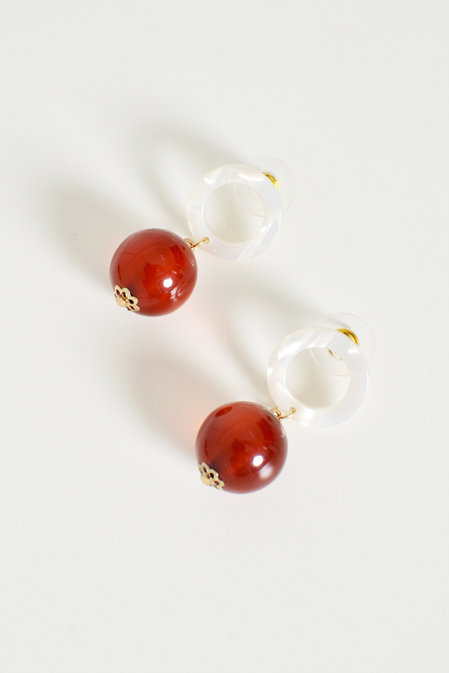 DONUT SPHERE DROP EARRINGS