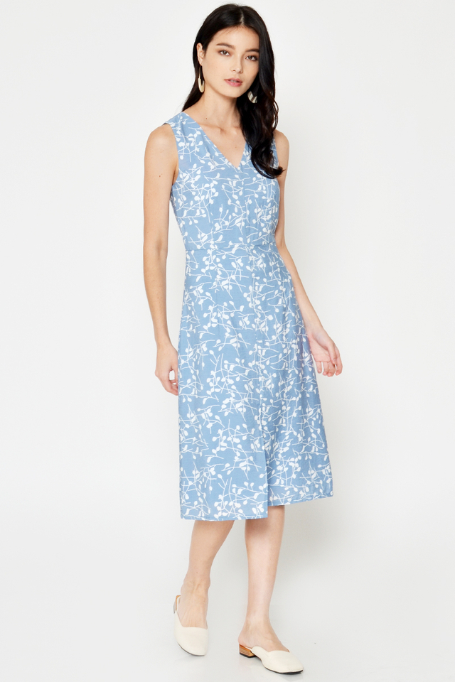 ASHLEY FLORAL MIDI DRESS