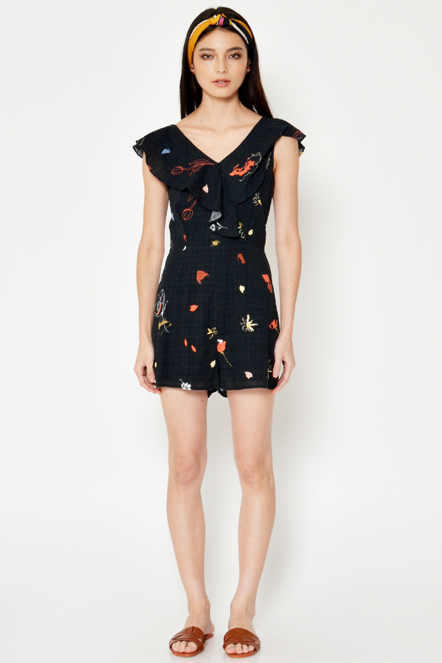 *BACKORDER* LAURIE FLORAL RUFFLE ROMPER