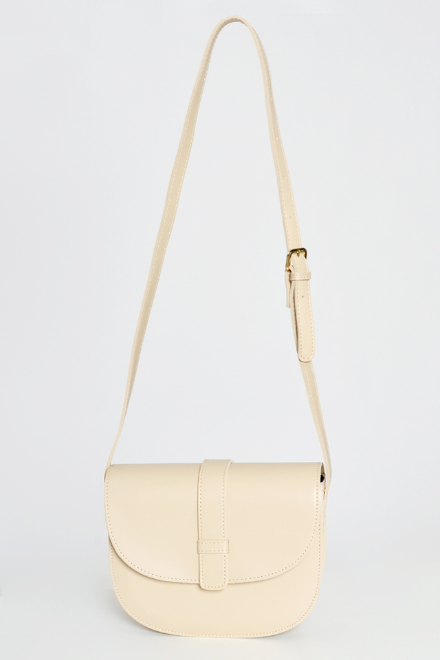 BUCKLE HALF MOON CROSS BODY BAG
