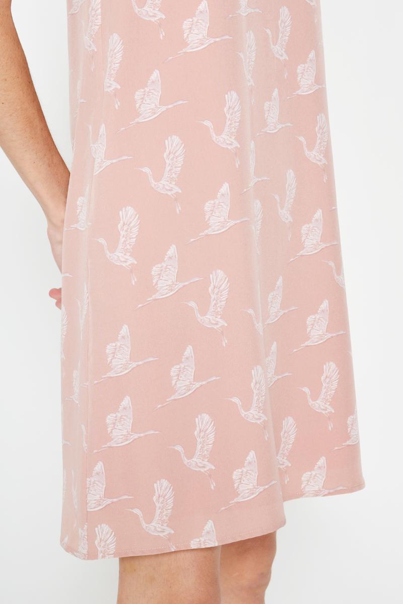 GERDA CRANE PRINTED SHIFT DRESS