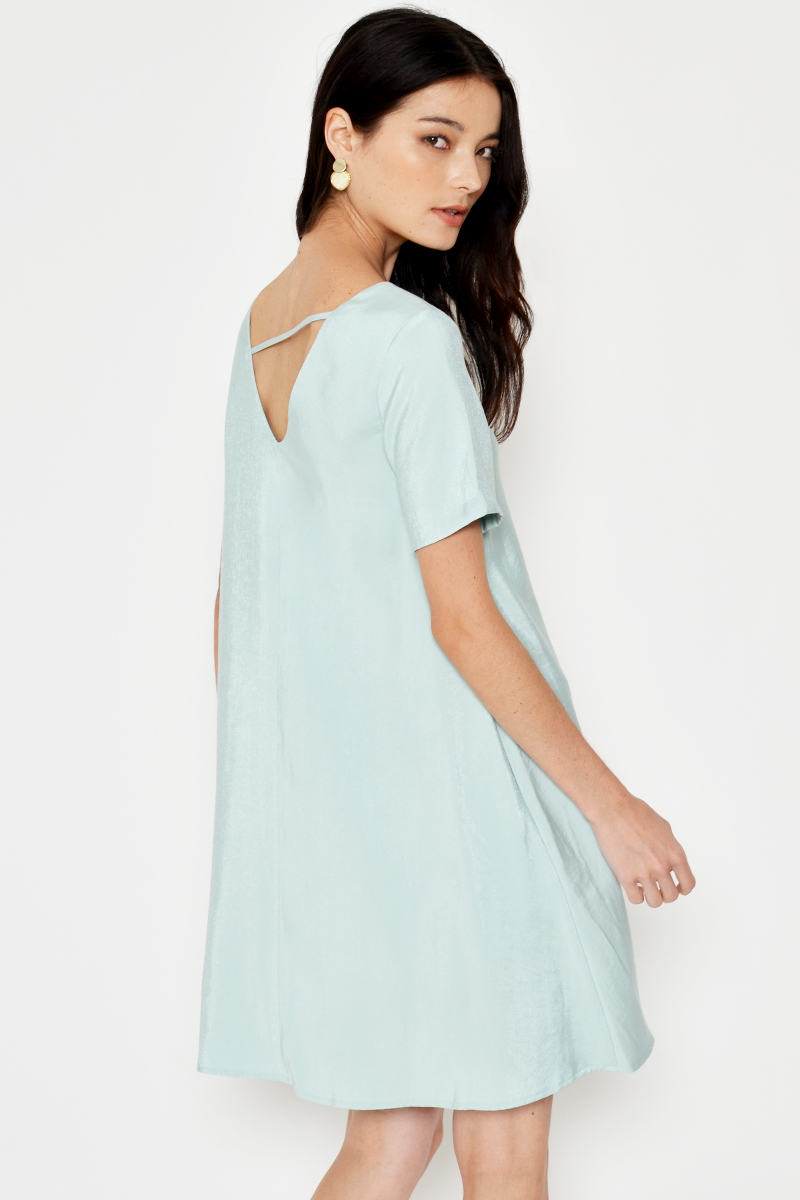 EDNA BACK CUTOUT FLARE DRESS