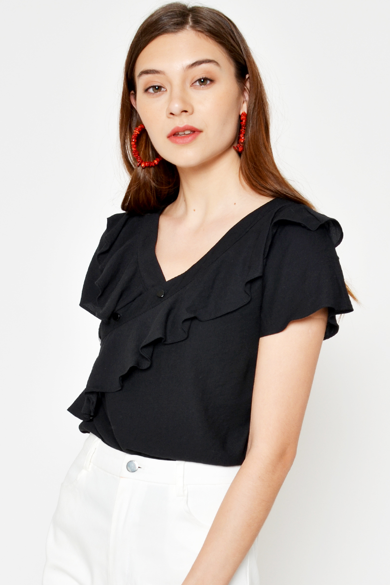 SHAROL RUFFLE TOP