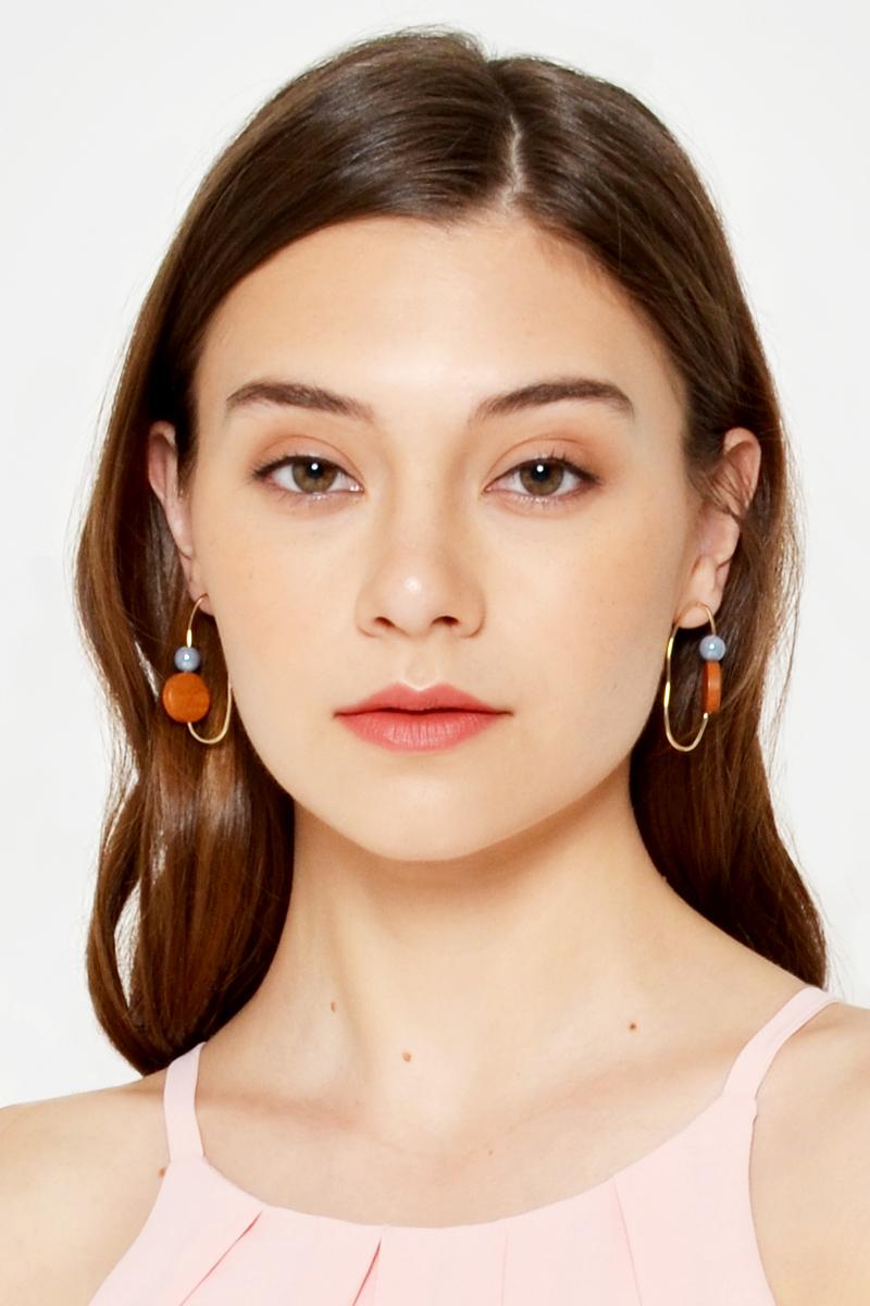 GEOMETRIC IRREGULAR HOOP EARRINGS