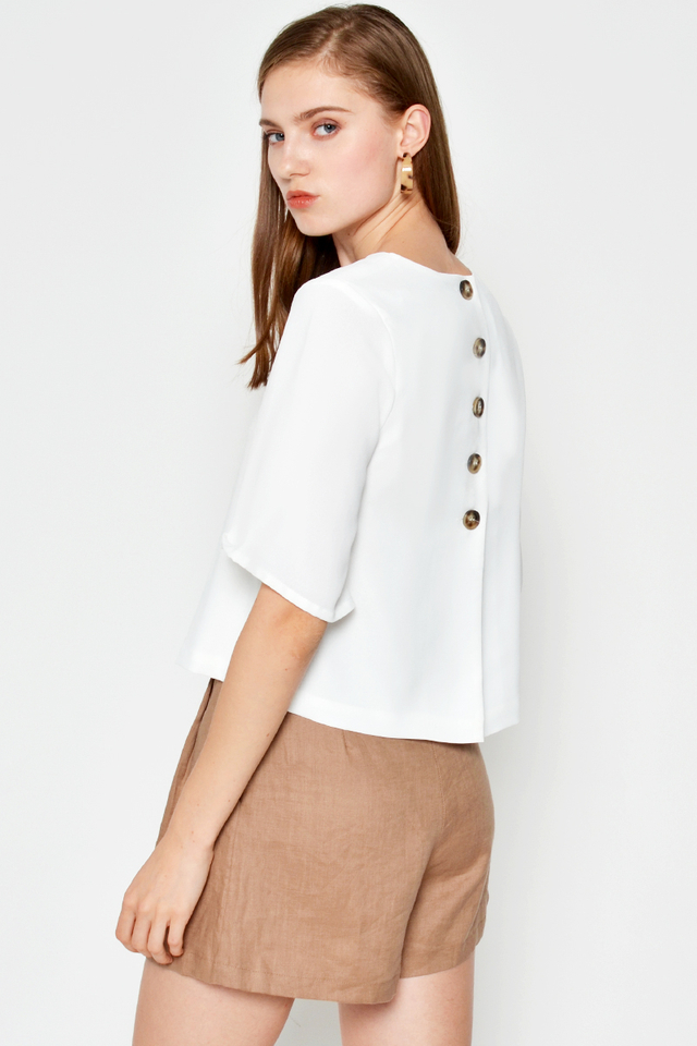 *BACKORDER* LUCIA BACK BUTTON TOP