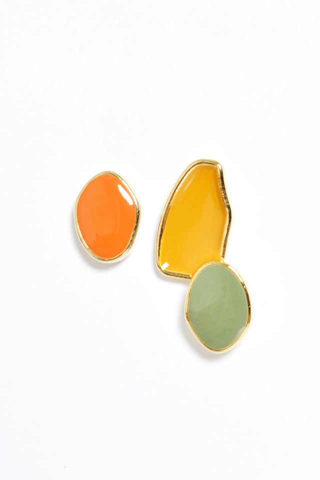 IRREGULAR COLOURBLOCK EARRINGS