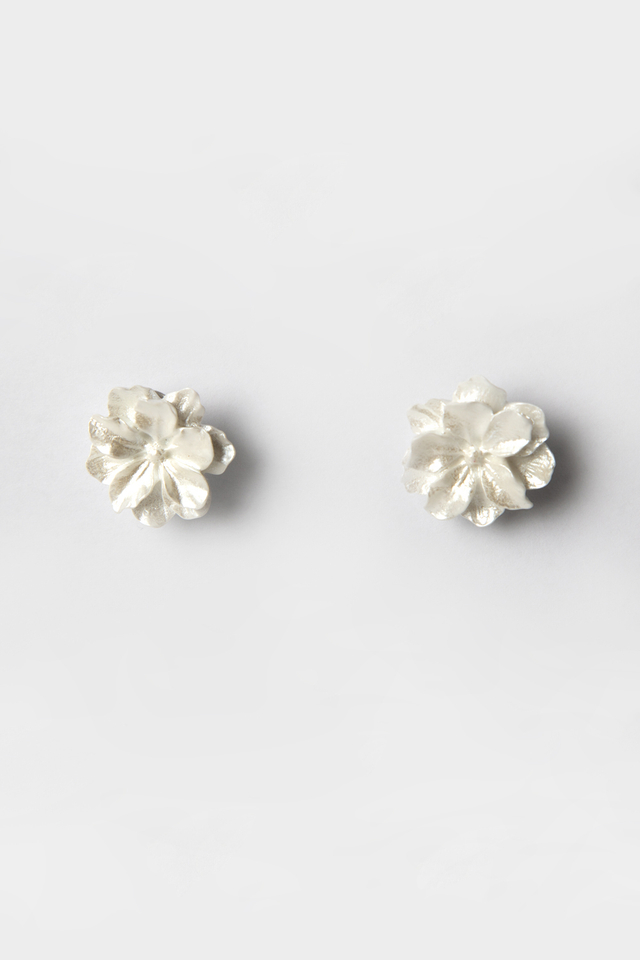 *BACKORDER* WHITE DAHLIA FLORAL EARRINGS
