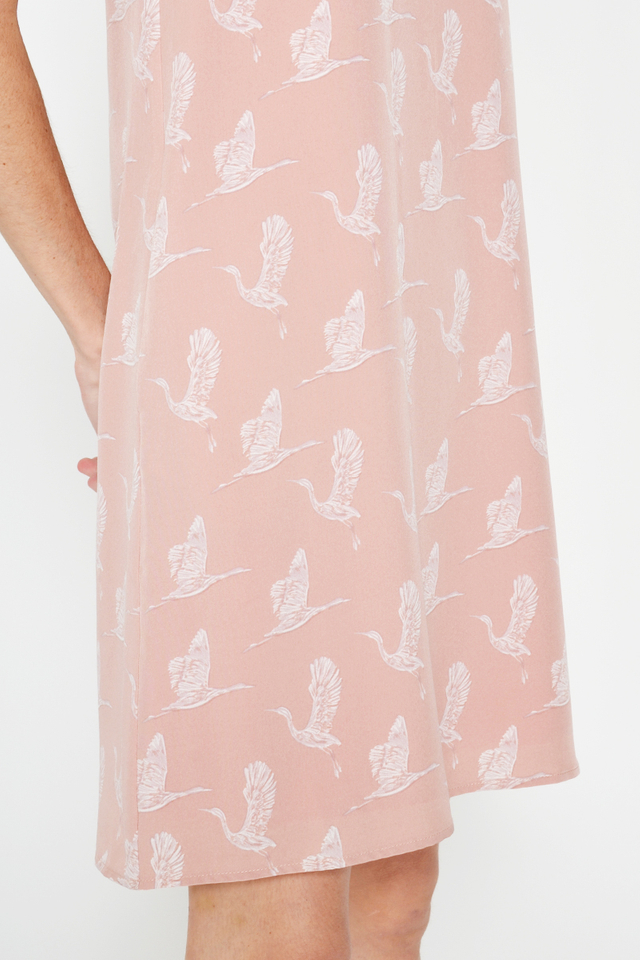 GERDA CRANE PRINTED SHIFT DRESS