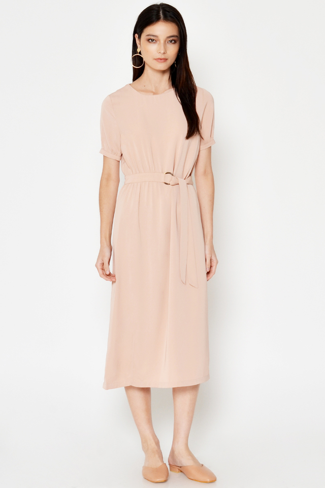LANGDON BUCKLE MIDI DRESS
