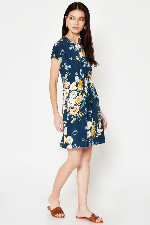 *BACKORDER* MARLEY FLORAL DRAWSTRING DRESS