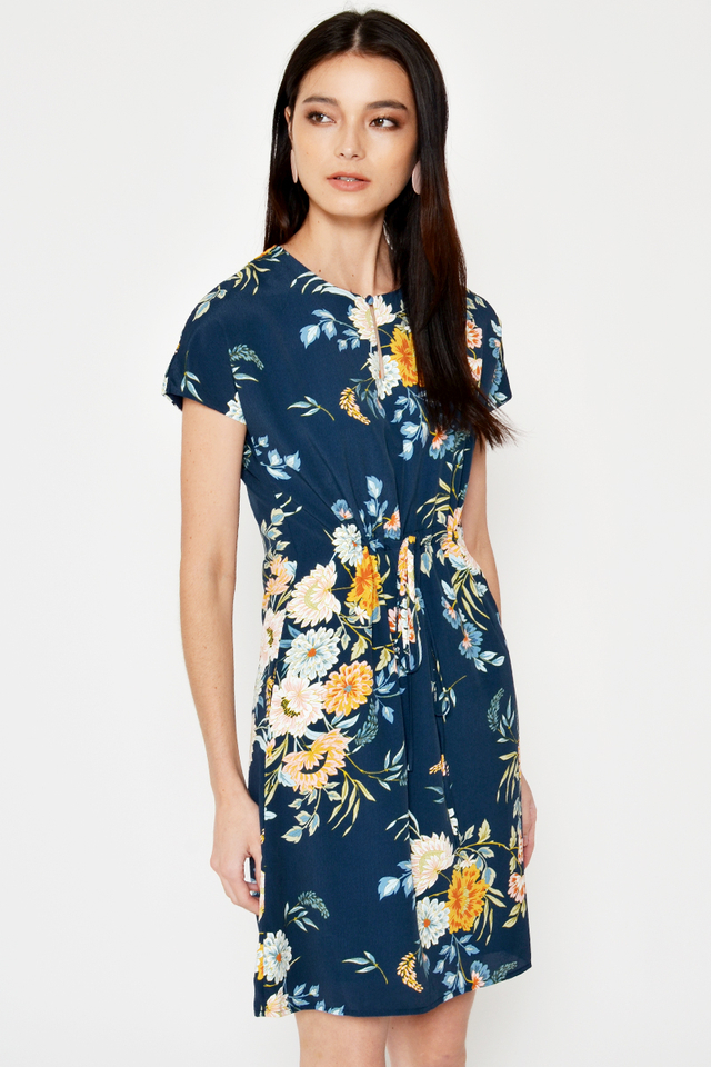 *BACKORDER 3* MARLEY FLORAL DRAWSTRING DRESS