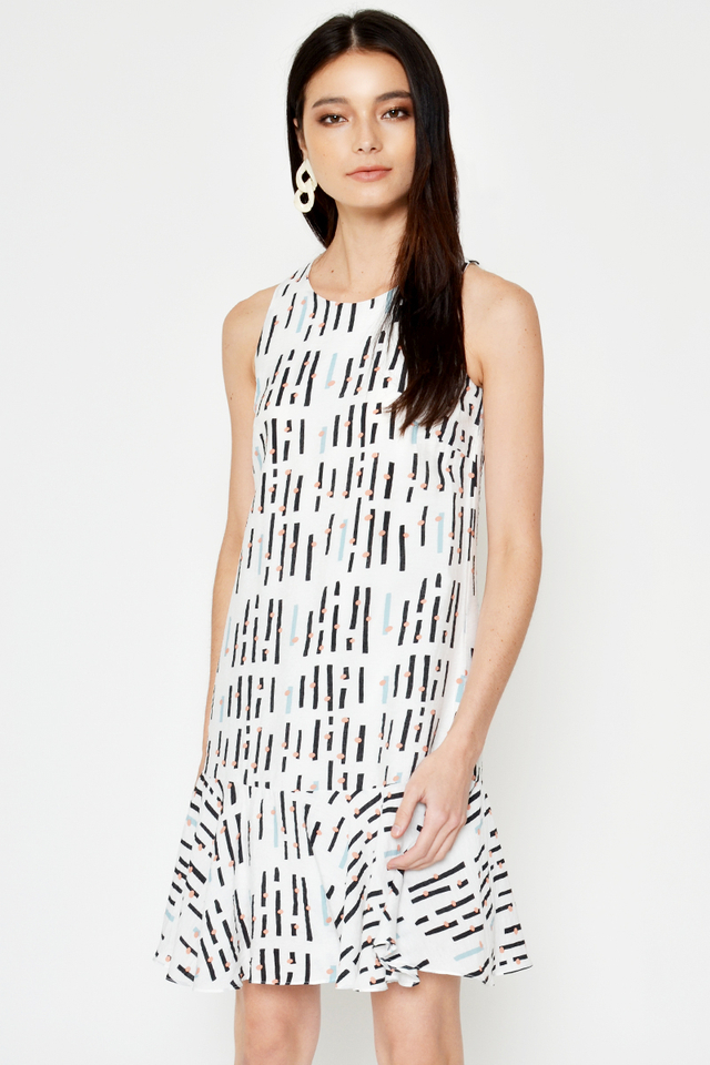 NEHARA ABSTRACT DROPWAIST DRESS