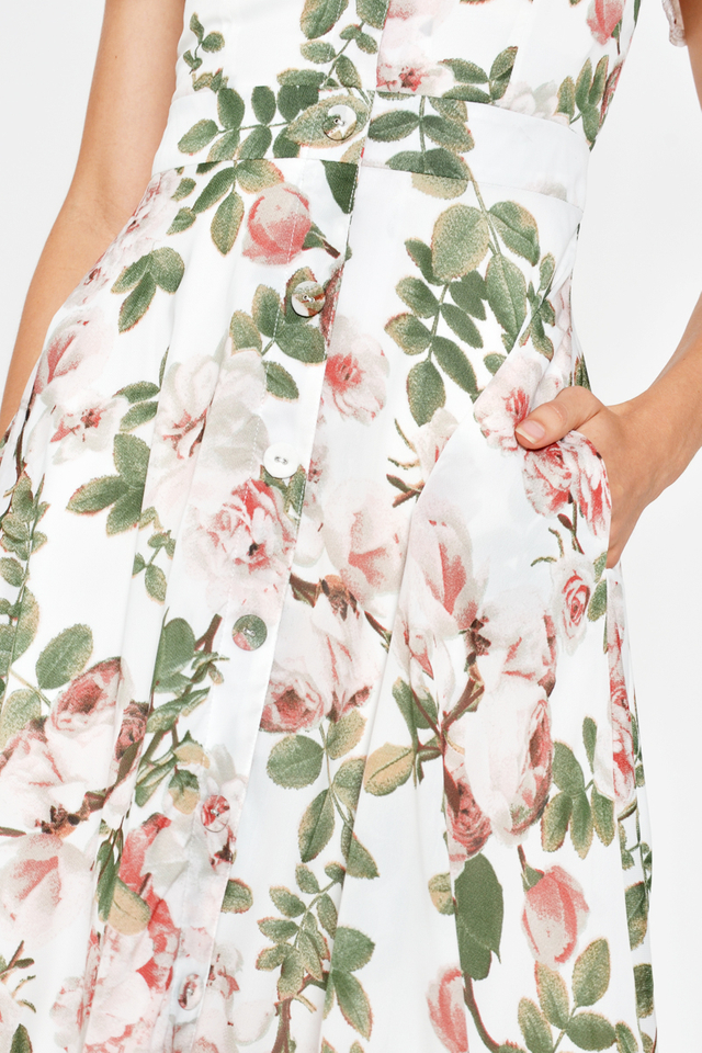 *BACKORDER 3* LETASHA FLORAL MIDI DRESS