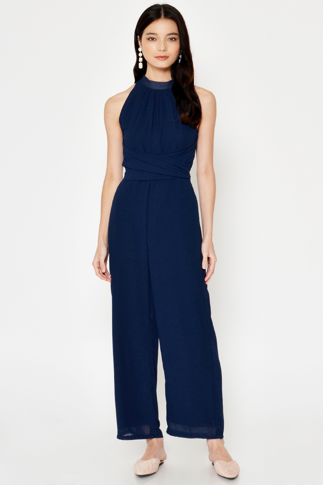 PERI WRAP JUMPSUIT