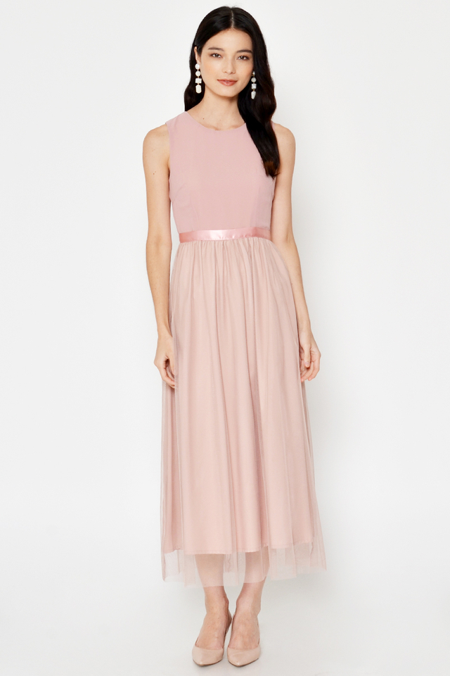 TAEYA TULLE MAXI DRESS