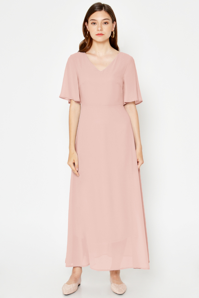 *PREORDER* MALLORY TIEBACK MAXI DRESS