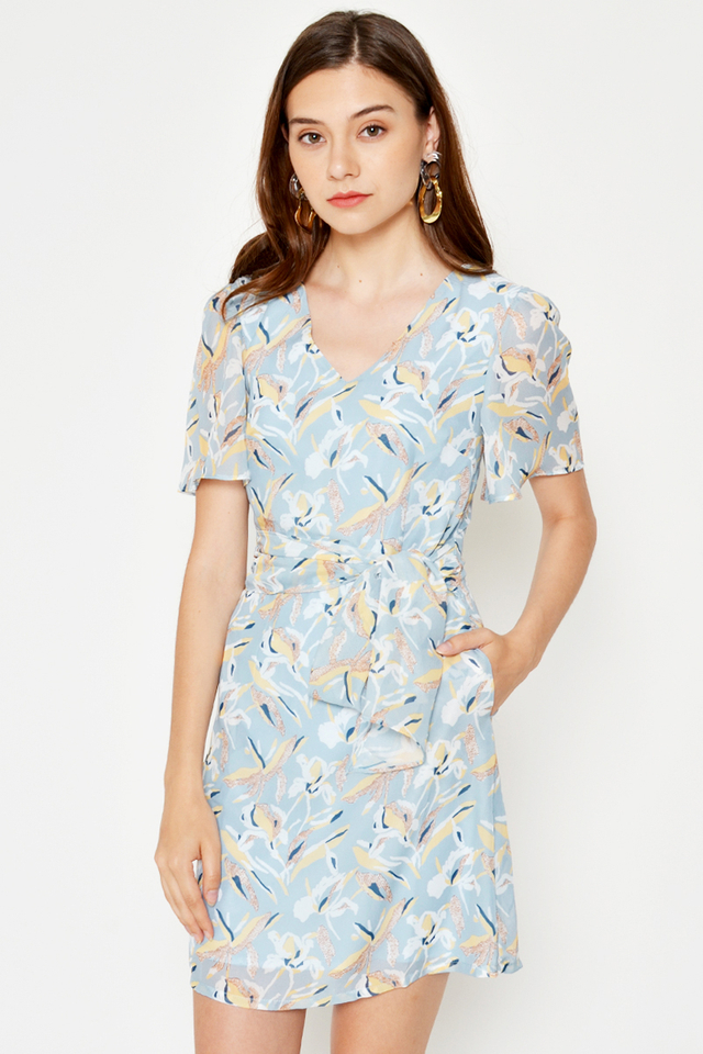 SUZIE FLORAL FLARE DRESS