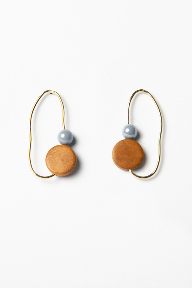 GEOMETRIC IRREGULAR HOOP EARRINGS