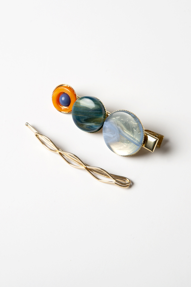 TRIO CIRCLE MARBLE CLIPS (SET OF 2)