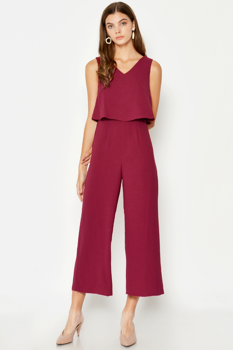 *BACKORDER 2* EVRA LAYERED JUMPSUIT