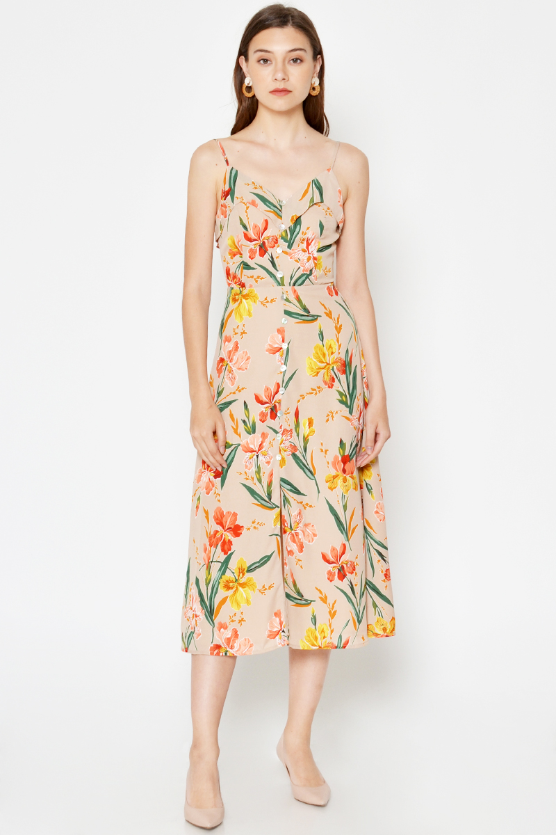 CHELSEA FLORAL BUTTONDOWN MIDI DRESS