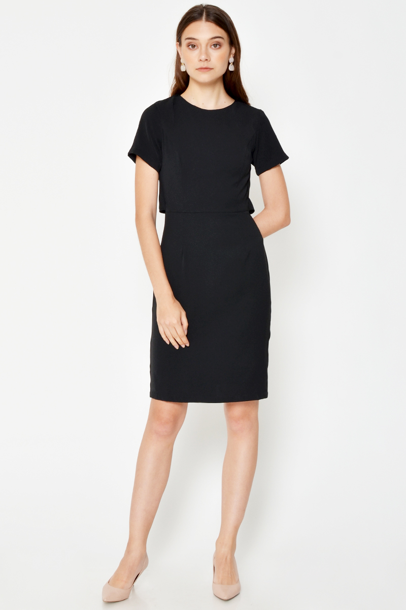 DANLEY LAYERED SHEATH DRESS