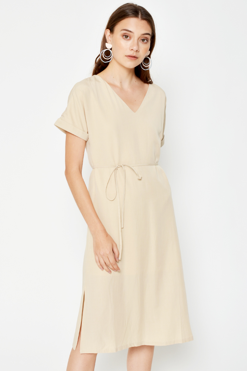 GABBY MIDI DRESS W SASH