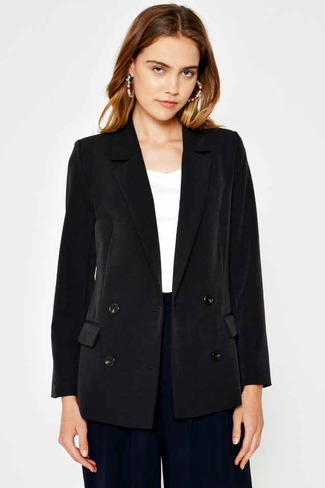 SIMMONS DOUBLE-BREASTED BLAZER