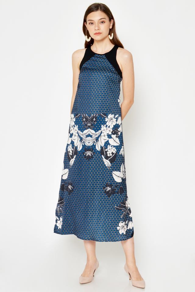 AMALIA COLOURBLOCK FLORAL MAXI