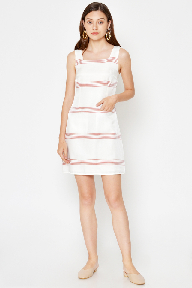 BELDA STRIPE FLARE DRESS