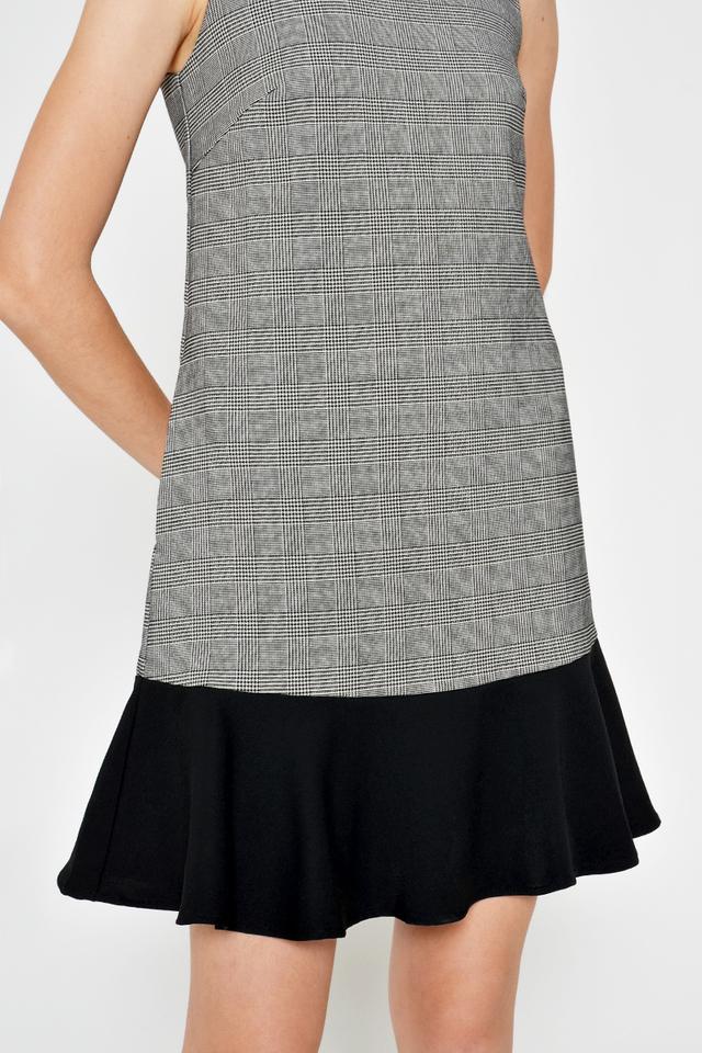 GEORGINA PLAID DROPWAIST DRESS