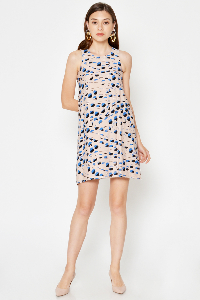 PAULINE ABSTRACT SHIFT DRESS
