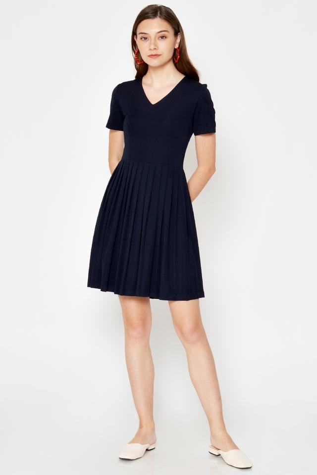 WINONA PLEATED FLARE DRESS