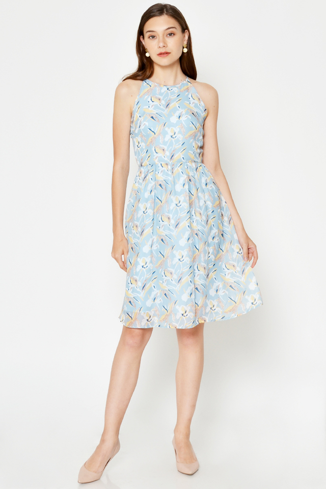 YILLIS FLORAL HALTER DRESS