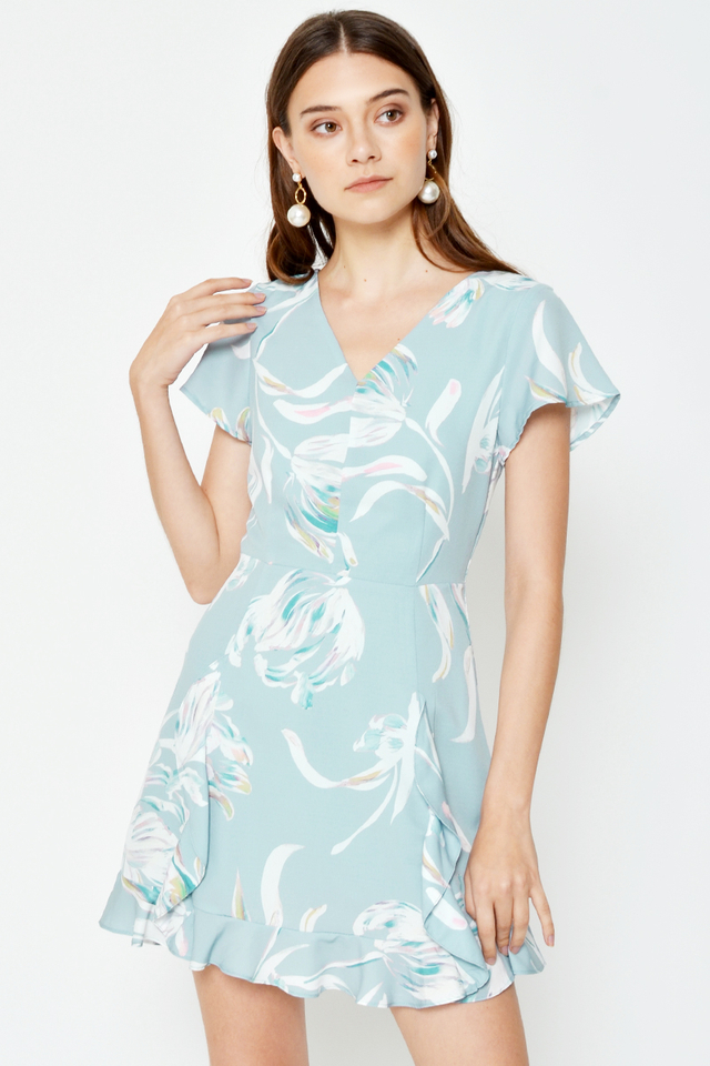 DELSIE ABSTRACT PRINTED ROMPER