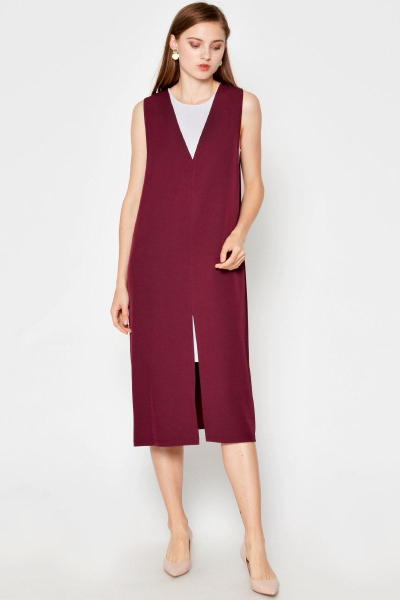 EDEN SPLITHEM TWO-PIECE LAYERED DRESS