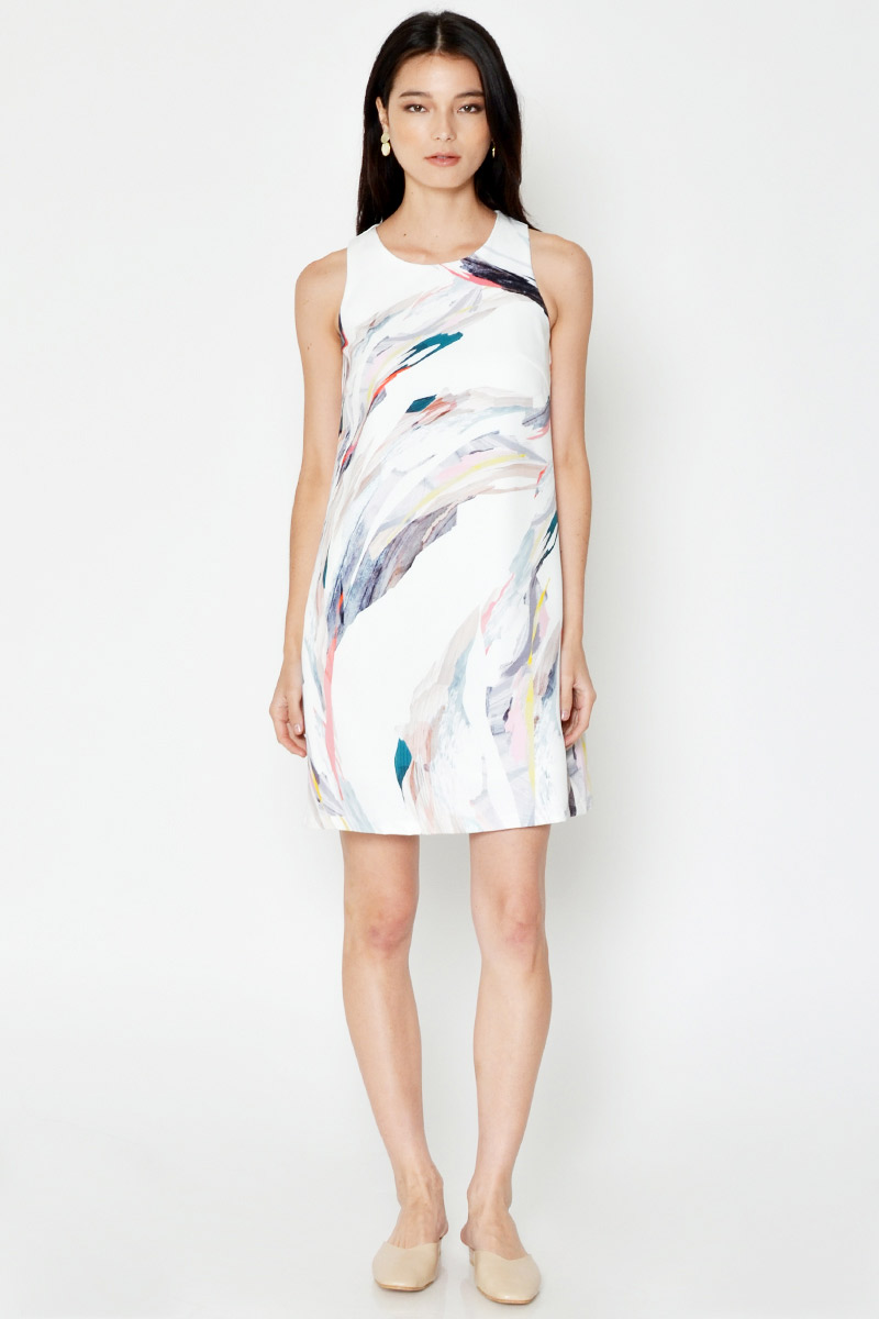 *BACKORDER* GLETIA ABSTRACT PRINT SHIFT DRESS