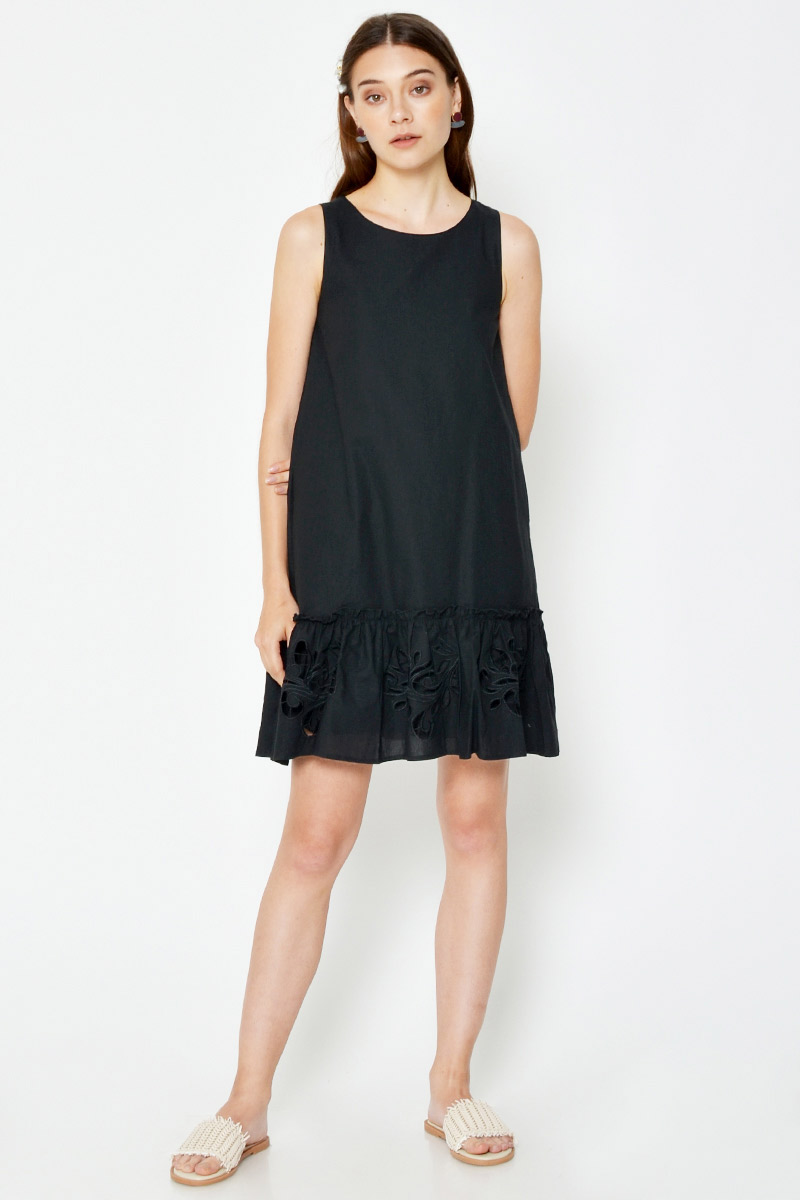 CARTIA DROPWAIST CUTOUT DRESS
