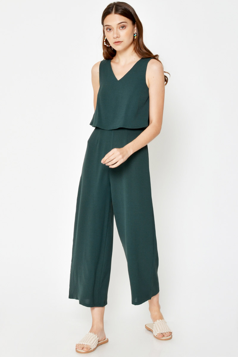 *BACKORDER 3* EVRA LAYERED JUMPSUIT