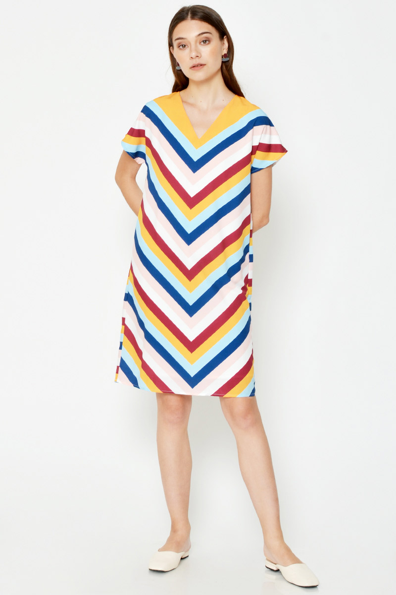 KRESSY RAINBOW DRESS W SASH