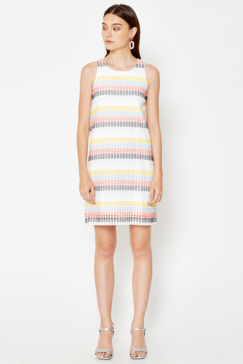LOUISA CROCHET SHIFT DRESS