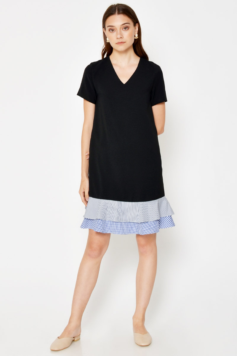 MAUREEN TIERED HEM DRESS